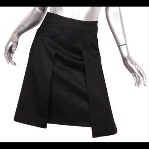 Chanel Wool Pleated A-Line Knee Length Skirt